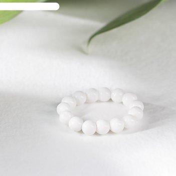 Кольцо-массажер на резинке шар №4 агат белый, 18 р-р