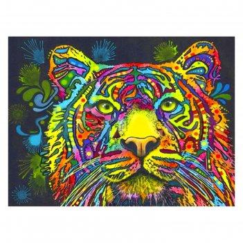 Картина со стразами акварельный тигр ck004