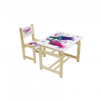 Комплект растущей детской мебели polini kids fun 400 sm, «тролли», 68х55 с