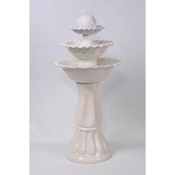Напольный фонтан «каскад» белый