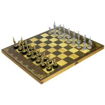 Шахматы исторические бородино с фигурами из покрашенного цинкового сплав