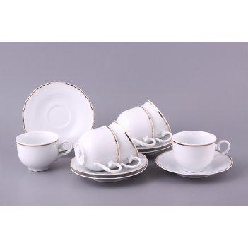 Чайный набор на 6 персон 12 пр. офелия 662 210 мл