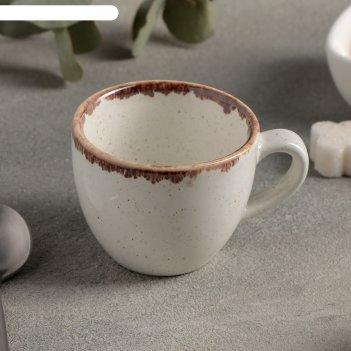 Чашка кофейная 90 мл, цвет бежевый