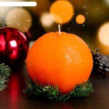 Декоративная свеча новогодний апельсин, крупный, 1 шт