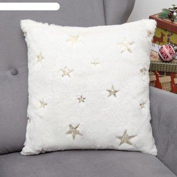 Наволочка декоративная collorista звезда золото 43 х 43 см, 100% п/э