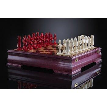 Шахматы рыцарский турнир из бивня мамонта kadun (изготовление на заказ)