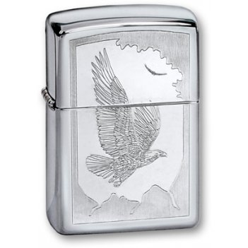 Зажигалка zippo birds high polish chrome