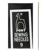 Иглы швейные для вышивания и бисера №9, 25шт