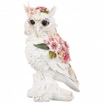 Статуэтка сова 12,5*11,5*22,5 см. коллекция flower fantasy (кор=12шт.)