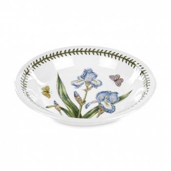 Тарелка суповая «ботанический сад ирис», диаметр: 20 см, материал: фаянс,