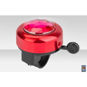 45az-01 звонок с алмазом алюминий чёрно-красный