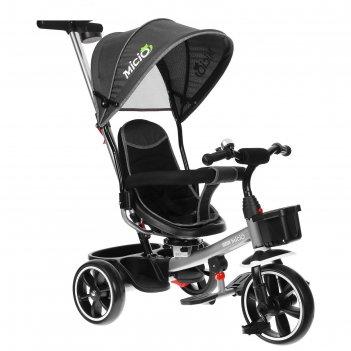 Велосипед трехколесный micio veloce, колеса eva 10/8, цвет серый
