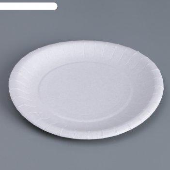 Тарелка белая 18,5 см
