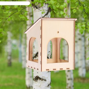 Кормушка для птиц гнёздышко, 15х14х17 см