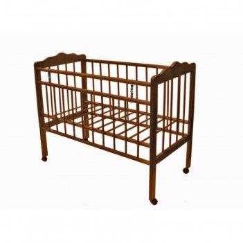 Кровать детская женечка-1,колесо(орех)