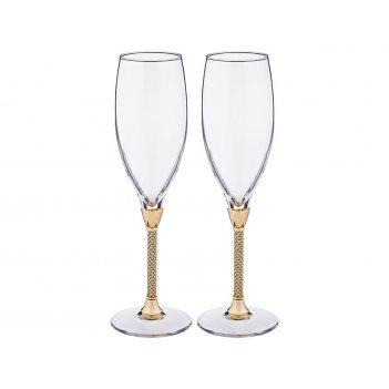 Набор бокалов для шампанского из 2 шт.250 мл. высо...