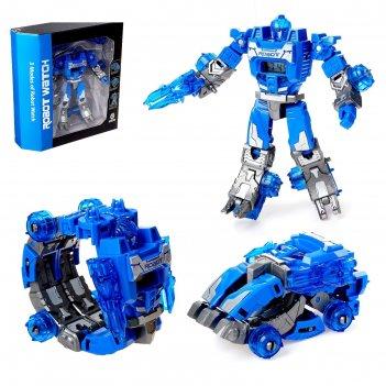 Робот - трансформер часы, трансформируется в робота и машинку, цвета микс