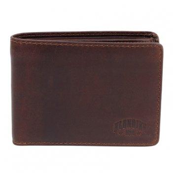 Бумажник klondike digger «angus», натуральная кожа в темно-коричневом цвет