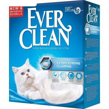 Наполнитель комкующийся ever clean extra strong clumpin  unscented, без ар