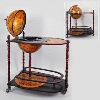 Глобус-бар напольный со столиком d 33