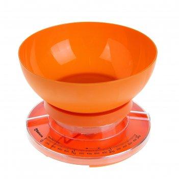 Весы кухонные sakura sa-6008a,  до 3,0кг., механические, оранж.