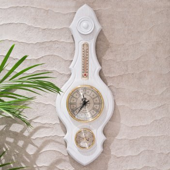 Метеостанция часы (беленый дуб)