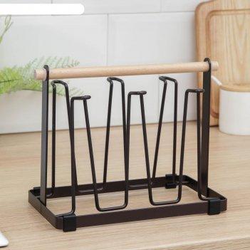 Подставка для кружек и стаканов доляна «эстетика», цвет коричневый