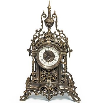 Часы из бронзы композиция время, 43х26х10см