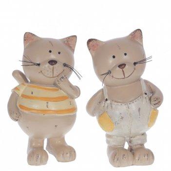 Фигурка декоративная кот, l6 w5 h10 см, 2в.