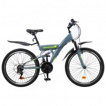 Велосипед 24 progress модель sierra fs rus, цвет серый, размер 15