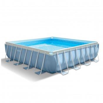Бассейн каркасный, квадратный prism frame set, 488х122 см, фильтр-насос, л