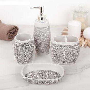 Набор аксессуаров для ванной комнаты, 4 предмета роспись