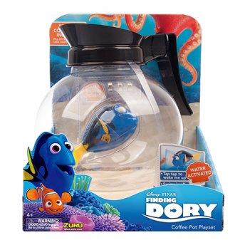 Роборыбка дори и аквариум-кофейник