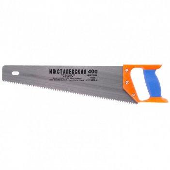 Ножовка по дереву, 400 мм, шаг зубьев 5 мм, пластиковая рукоятка (ижевск)