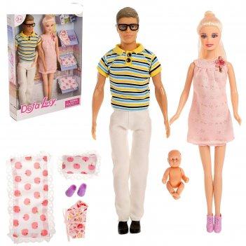 Набор кукол «дружная семья» с аксессуарами, микс