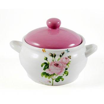 """Супница """"розовый сад"""" 18*18*16см, 1500мл"""
