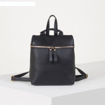 Рюкзак молод миа, 21*10*25, отд на молнии, черный