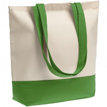 Холщовая сумка shopaholic ярко-зеленая
