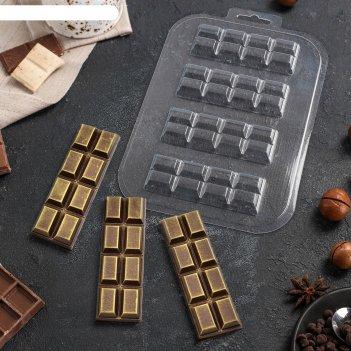 Форма для шоколада «батончик 2x4»