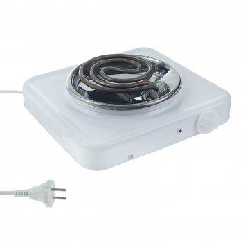Плитка электрическая пскова-1 эпт-1/1,0-220, 1 конфорка, нерж. чаша, 1000