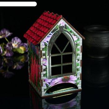 Чайный домик цветы