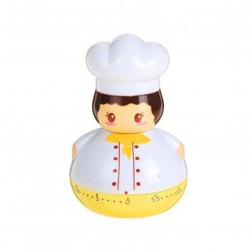 Кухонный таймер повар механический, цвет микс