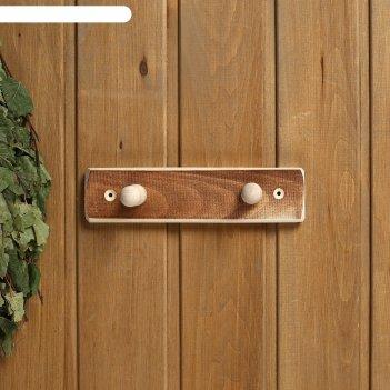 Вешалка деревянная, 2 крепления термо