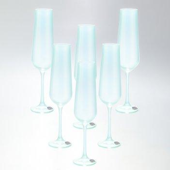 Набор фужеров для шампанского crystalex bohemia sandra 200 мл(6 шт)
