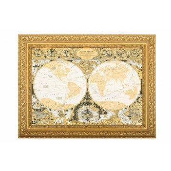 Панно карта известного мира жана баптиста нолина  (покрытие зо