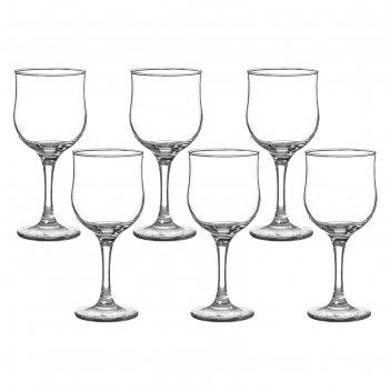 Набор бокалов для вина 240 мл тулип, 6 шт