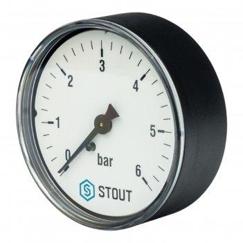 Манометр stout sim-0009-630608, аксиальный, dn63, g1/4