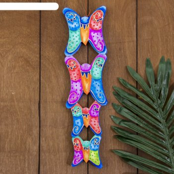 Панно настенное бабочки 10х1х33 см