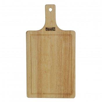 Доска разделочная прямоугольная с деревянной ручкой 33х17х1,2 см bosco