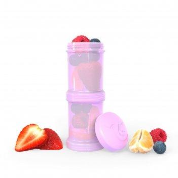 Контейнер для сухой смеси twistshake, цвет пастельный фиолетовый, 100 мл,